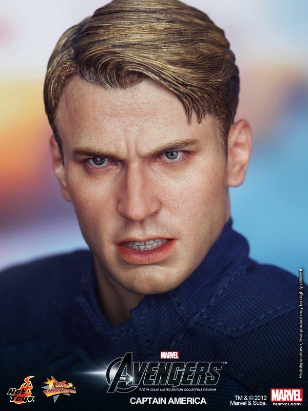 1//6 Scale Toy Captain America-Head Sculpt dans Chris Evans Portrait