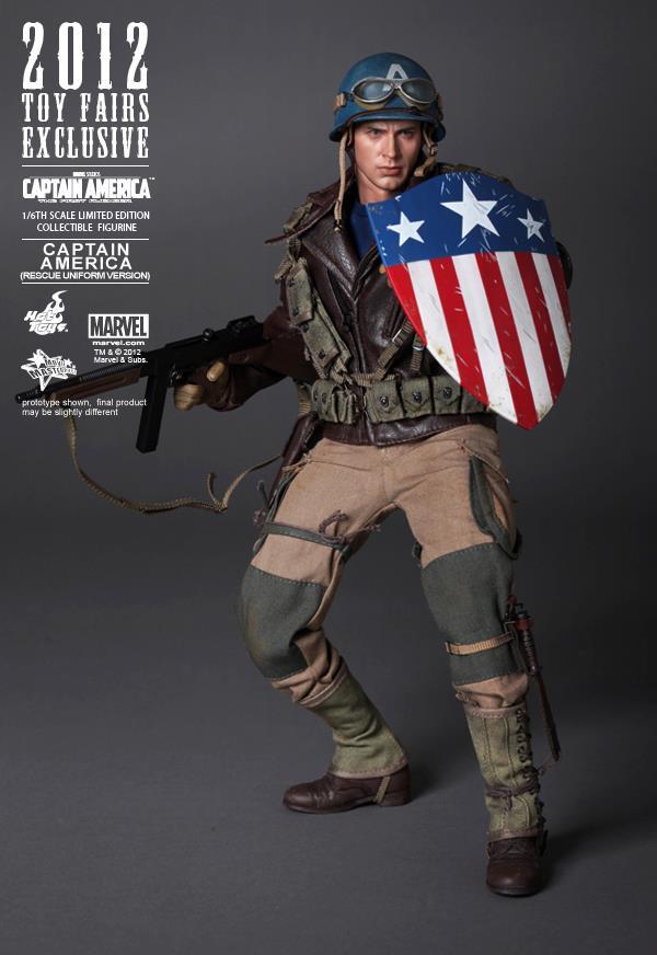 Hot Toys The First Avenger CAPTAIN AMERICA Figure 1//6 PANTS Rescue Uniform Ver